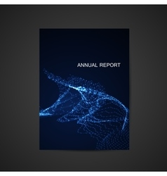 Annual report template design vector