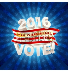 Usa presidential elections background vector