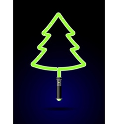 Light sword in form of christmas tree brilliant vector