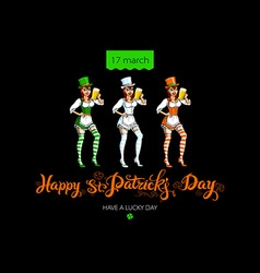 Happy saint patricks day for greeting card vector