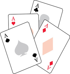 Ace cards vector