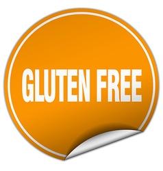 Gluten free round orange sticker isolated on white vector