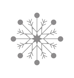Grey snowflake winter design graphic vector