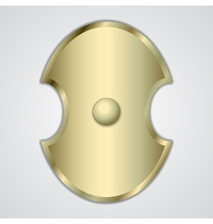 Abstract of gold greek shield vector