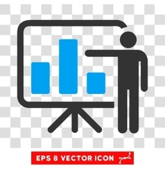Bar chart presentation eps icon vector