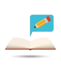Book open pencil concept school graphic vector