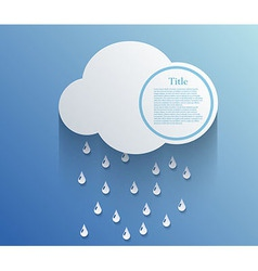 cloud background Eps10 vector image
