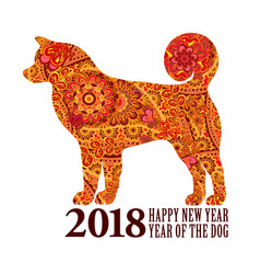 Dog symbol of the 2018 chinese new year design vector