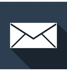 Envelope icon with long shadow vector image