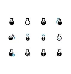 Flacon duotone icons on white background vector