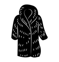 Fur coat icon simple style vector