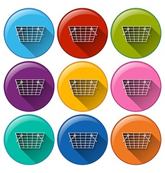 Grocery basket icons vector
