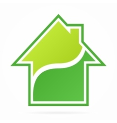 House and real estate logo vector image vector image