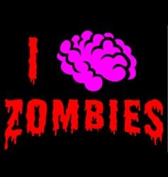 I love zombies vector