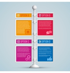 Infographics options banners vector image vector image