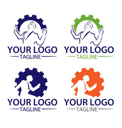 Logo collection work vector
