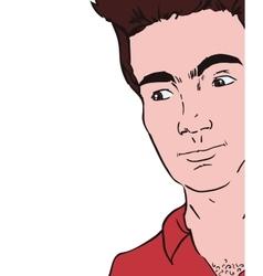 Man pop art avatar retro vintage icon vector