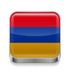 Metal icon of armenia vector