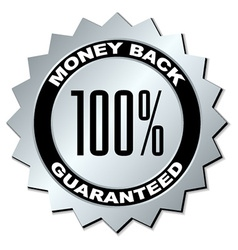 money back guaranteed label vector image