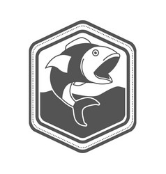 Monochrome silhouette of diamond shape emblem with vector