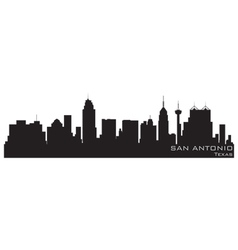 san antonio texas skyline detailed silhouette vector image