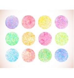 Set of pastel watercolor circles vector