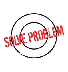 Solve problem rubber stamp vector