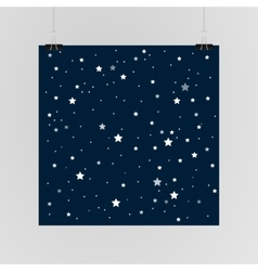 Starry sky poster on the wall eps 10 vector