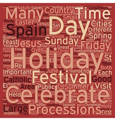 Summer holidays in spain text background wordcloud vector
