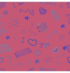 Yoga sign seamless pattern background vector image vector image