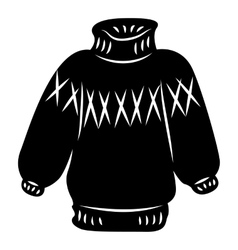 Warm sweater icon simple style vector