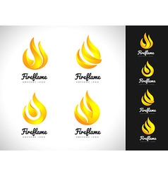 Fire flame logo 3d fire logo concept flame icon vector
