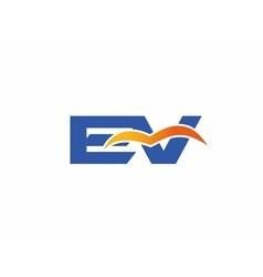 Ev logo vector
