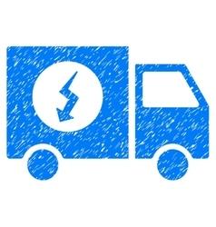 Power supply van grainy texture icon vector