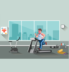 sport fitness man vector image