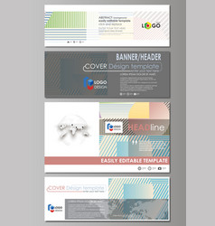 social media and email headers set modern banners vector image