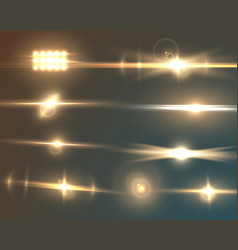 Transparent lens flare effect set vector