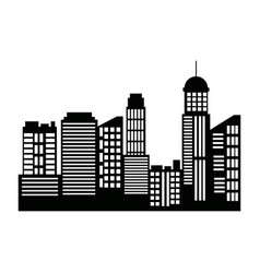 cityscape skyline silhouette town architecture vector image
