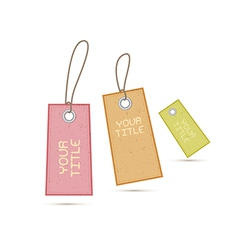 Recycled Paper Labels Tags on White Background vector image