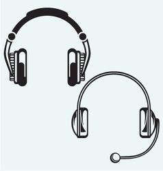 Icon headphones vector image