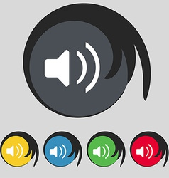 Speaker volume sound icon sign symbol on five vector