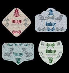 wine labels19 vector image