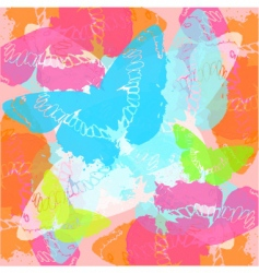 stylised butterflies vector image