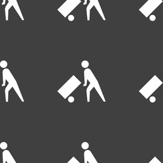 Loader icon sign seamless pattern on a gray vector