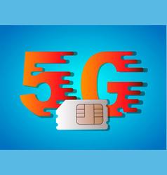 5g business5g sim card vector