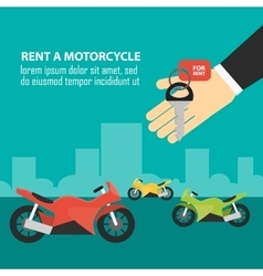 Order rent motorcycle vector