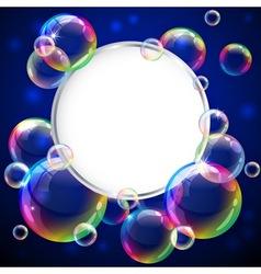 Bubbles frame vector image