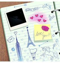 Valentine scrapbook vector