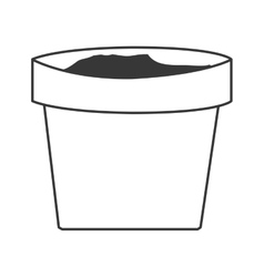 Clay plant pot vector