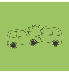 Accident two cars design icon vector image